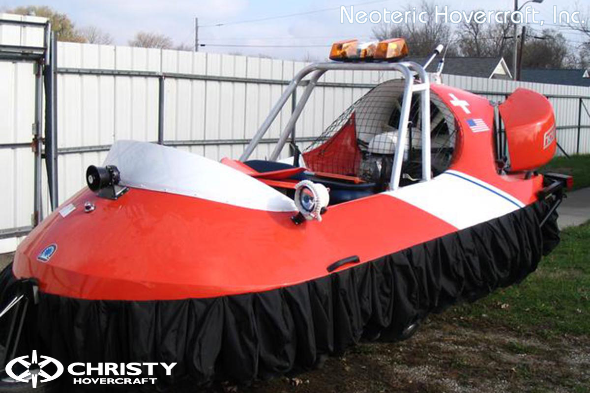 Спасательный катер на воздушной подушке Hovertrek 455 от Neoteric Hovercraft Inc | фото №18