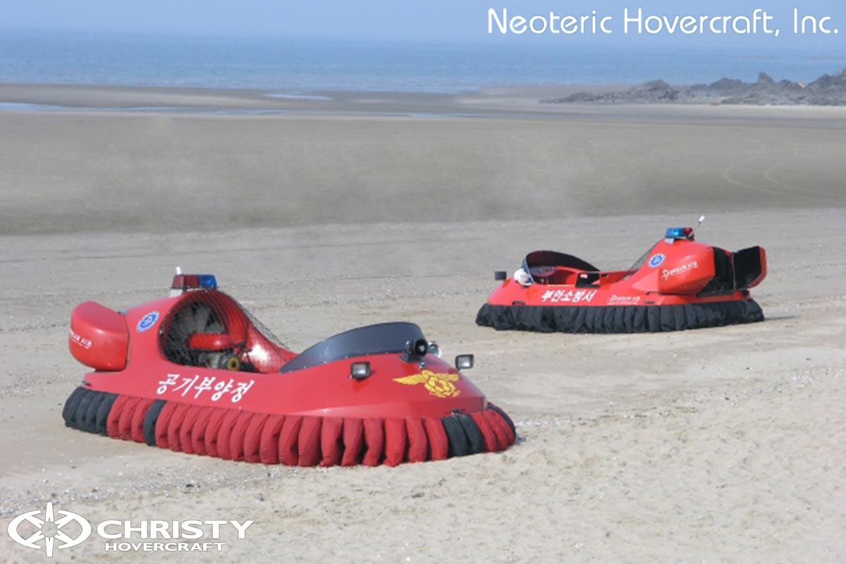 Спасательный катер на воздушной подушке Hovertrek 455 от Neoteric Hovercraft Inc | фото №24