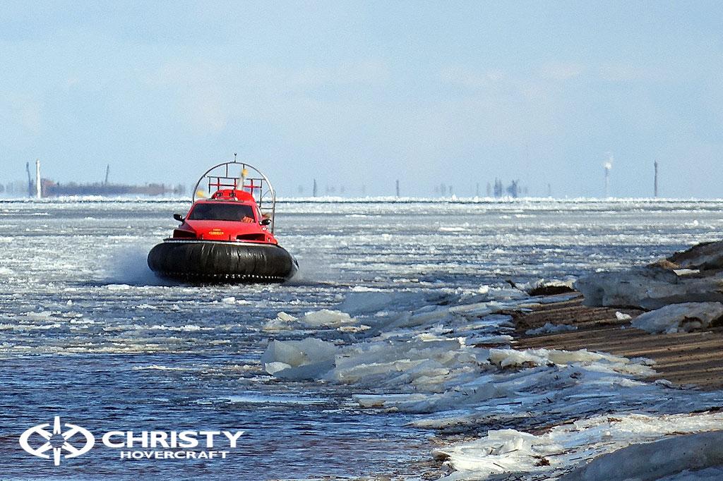Тест-драйв СВП Christy Hovercraft в сложных погодных условиях | фото №6