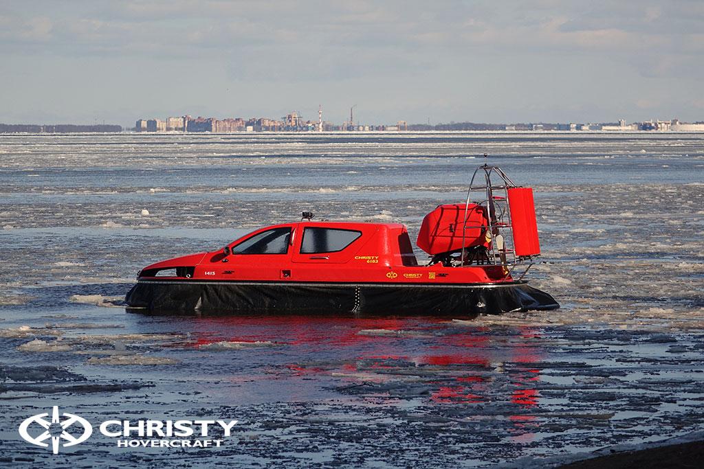 Тест-драйв СВП Christy Hovercraft в сложных погодных условиях | фото №9
