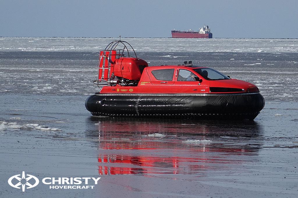 Тест-драйв СВП Christy Hovercraft в сложных погодных условиях | фото №13