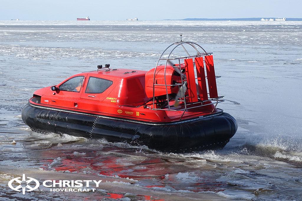 Тест-драйв СВП Christy Hovercraft в сложных погодных условиях | фото №16