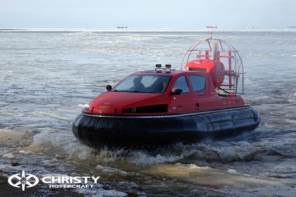 Тест-драйв СВП Christy Hovercraft в сложных погодных условиях | фото №17
