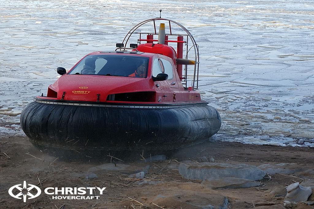 Тест-драйв СВП Christy Hovercraft в сложных погодных условиях | фото №20