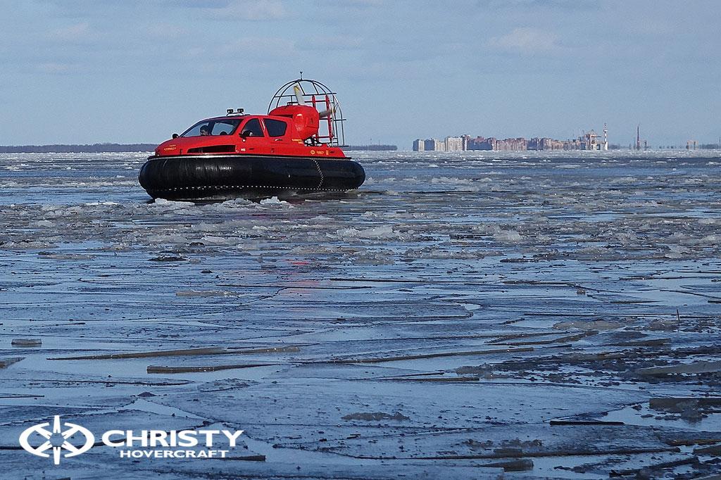 Тест-драйв СВП Christy Hovercraft в сложных погодных условиях | фото №24