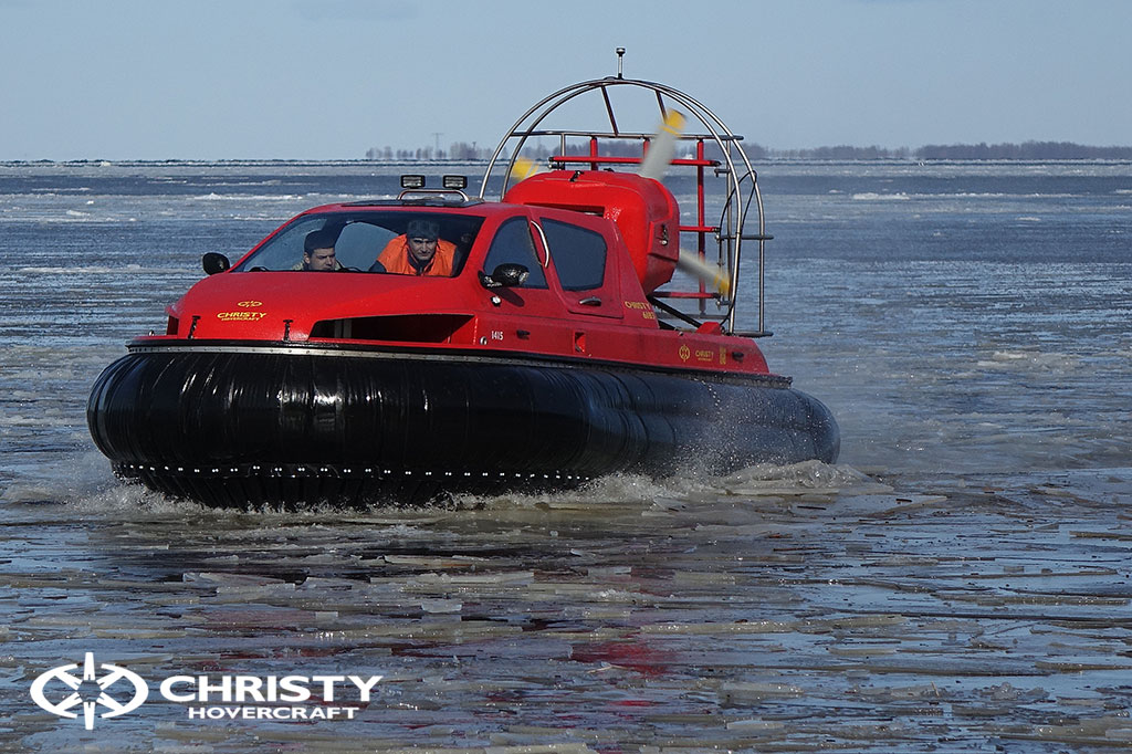 Тест-драйв СВП Christy Hovercraft в сложных погодных условиях | фото №30