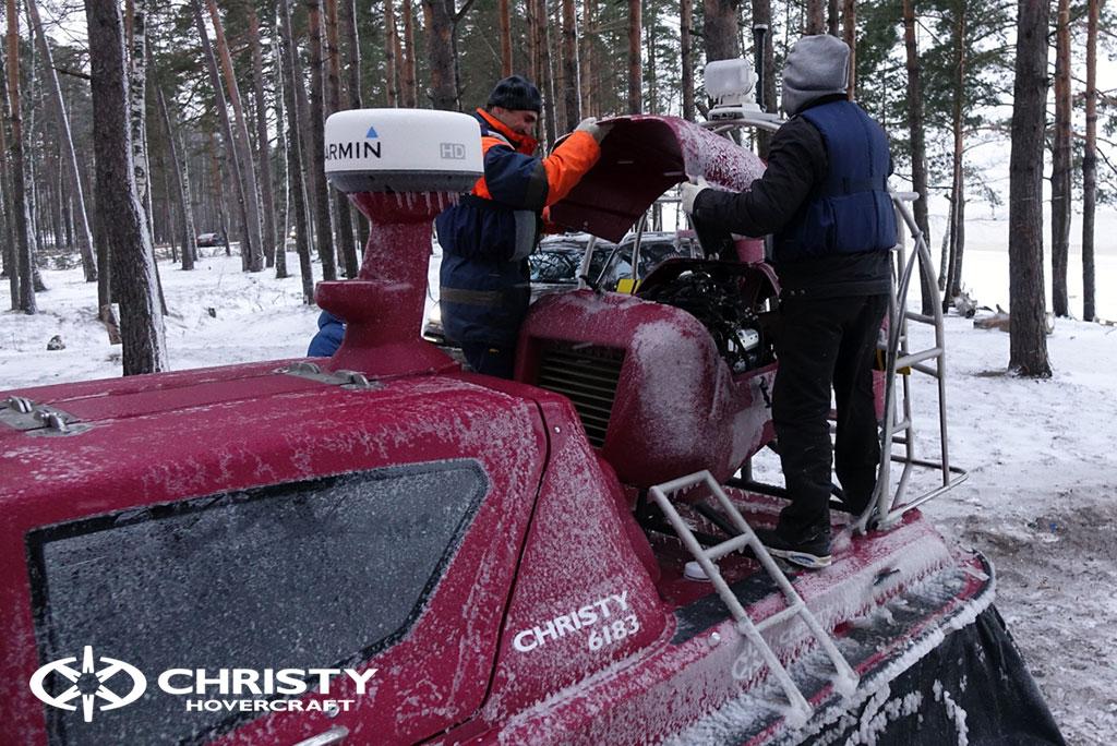 Тест-драйв амфибии Christy 6183 в сложных метеоусловиях | фото №6