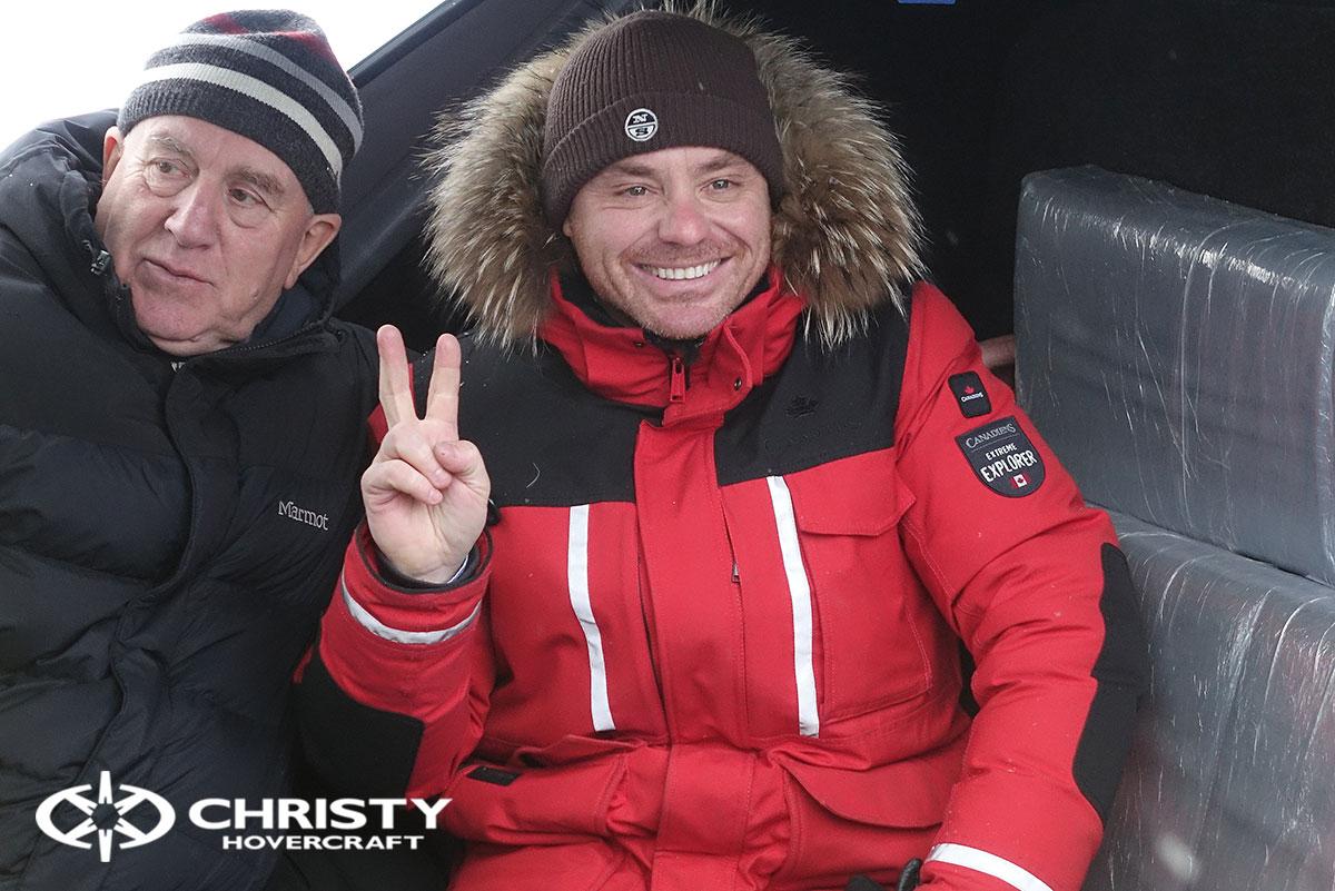 Тест-драйв ховеркрафта Christy для Пятого канала | фото №20
