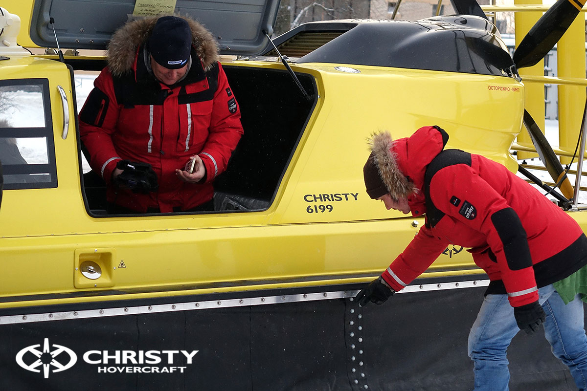 Тест-драйв ховеркрафта Christy для Пятого канала | фото №32