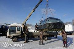 Амфибийный катер на воздушной подушке Christy 8105 можно транспортировать на значительные расстояния в собранном виде | фото №9