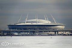 Вездеход-амфибия на воздушной подушке Christy 8205 испытывался на фоне нового стадиона на Крестовском острове, который  расположен на одном из островов, омываемых Финским заливом | фото №15