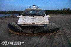 Катер на воздушной подушке Christy-7163 амфибийный катер беспрепятственно скользит по суше и воде | фото №16