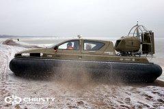 Обучение пилотов ChristyHovercraft вождению судна на воздушной подушке по тонкому льду | фото №11
