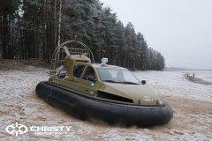 Обучение пилотов ChristyHovercraft вождению судна на воздушной подушке по тонкому льду | фото №16