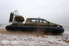 Обучение пилотов ChristyHovercraft вождению судна на воздушной подушке по тонкому льду | фото №18