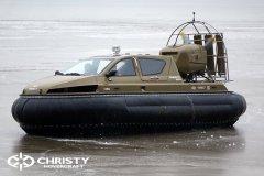 Обучение пилотов ChristyHovercraft вождению судна на воздушной подушке по тонкому льду | фото №25