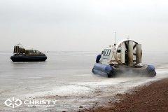 Обучение пилотов ChristyHovercraft вождению судна на воздушной подушке по тонкому льду | фото №32