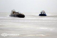 Обучение пилотов ChristyHovercraft вождению судна на воздушной подушке по тонкому льду | фото №33