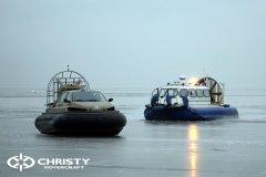 Обучение пилотов ChristyHovercraft вождению судна на воздушной подушке по тонкому льду | фото №34