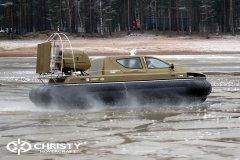 Обучение пилотов ChristyHovercraft вождению судна на воздушной подушке по тонкому льду | фото №38