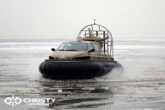 Обучение пилотов ChristyHovercraft вождению судна на воздушной подушке по тонкому льду | фото №40