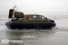 Обучение пилотов ChristyHovercraft вождению судна на воздушной подушке по тонкому льду | фото №42