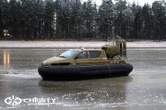 Обучение пилотов ChristyHovercraft вождению судна на воздушной подушке по тонкому льду | фото №46