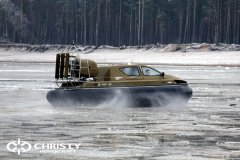 Обучение пилотов ChristyHovercraft вождению судна на воздушной подушке по тонкому льду | фото №51