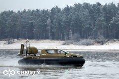 Обучение пилотов ChristyHovercraft вождению судна на воздушной подушке по тонкому льду | фото №54
