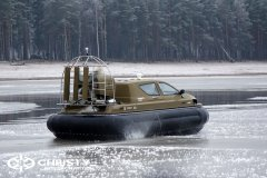 Обучение пилотов ChristyHovercraft вождению судна на воздушной подушке по тонкому льду | фото №55
