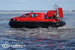 Тест-драйв СВП Christy Hovercraft в сложных погодных условиях | фото №11