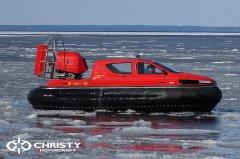 Тест-драйв СВП Christy Hovercraft в сложных погодных условиях | фото №14