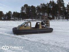 Christy 555 с легкостью пролетала через торосы высота которых достигала 60 см.   фото №2