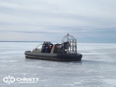 Christy 555 с легкостью пролетала через торосы высота которых достигала 60 см. | фото №3